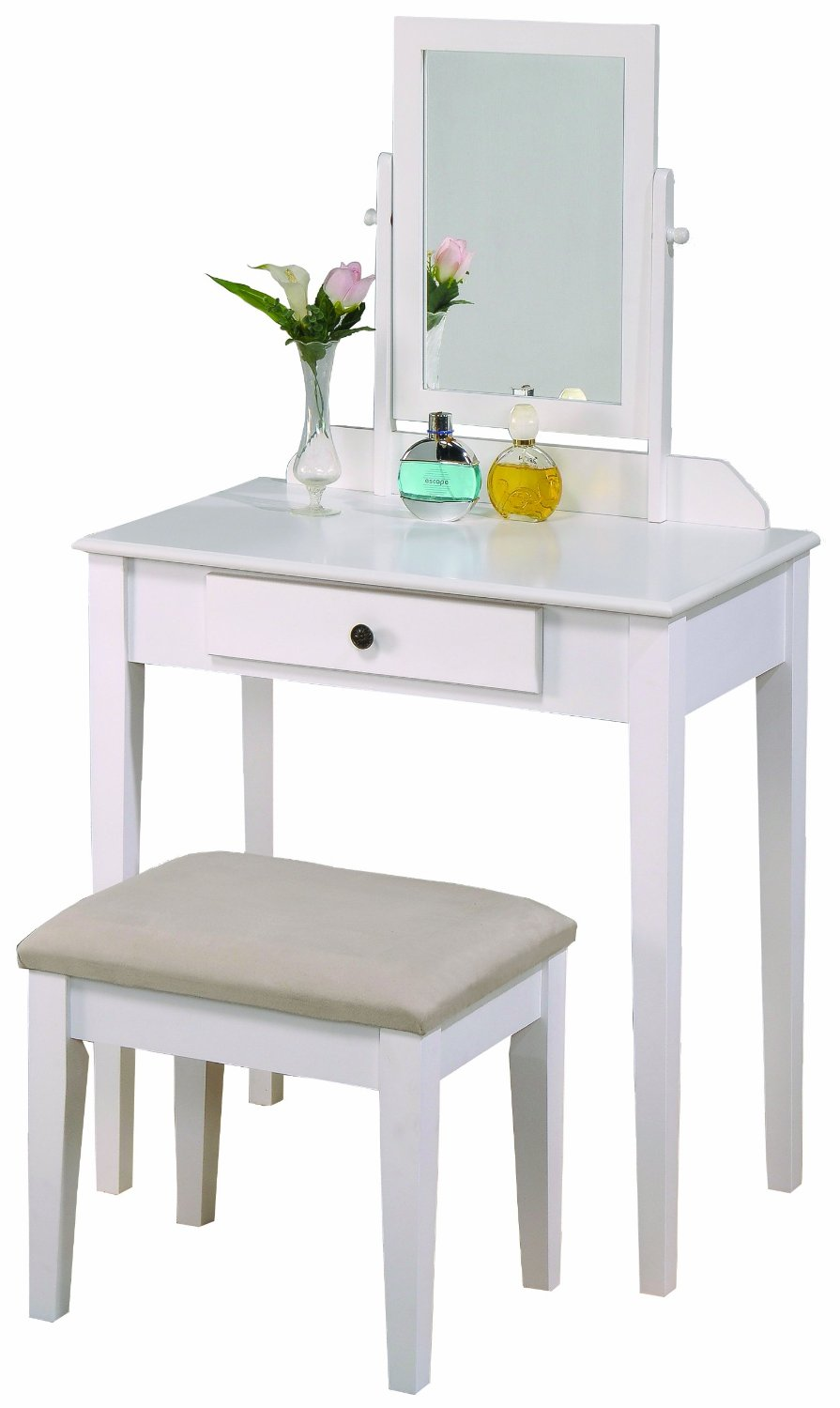 Top 5 vanity tables with mirror for under 100 vanity table with image courtesy of amazon posted in top 5 vanity tables with mirror geotapseo Choice Image